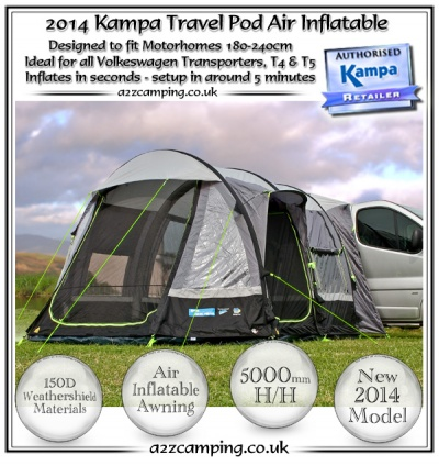New Vauxhall Vivaro Kampa Travel Pod Air Free Standing